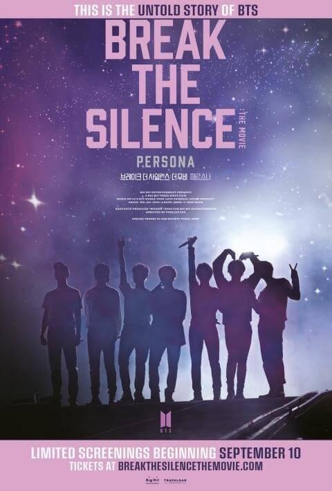 break the silence persona filme dos bts em portugal - novo poster