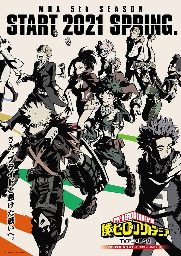 Boku no Hero Academia - 5.ª Temporada Anime revela Vídeo