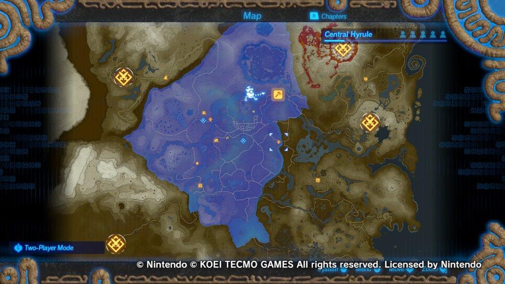 Hyrule Warriros Age of Calamity Mapa aberto