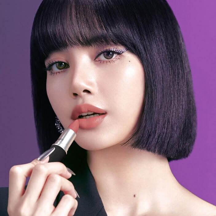 lisa blackpink embaixadora MAC maquilhagem