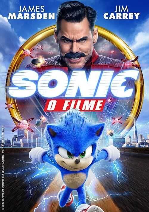 sonic o filme poster oficial tvcine
