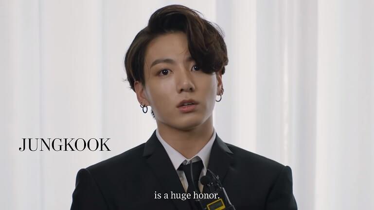 2020 Music Innovator Award bts jungkook