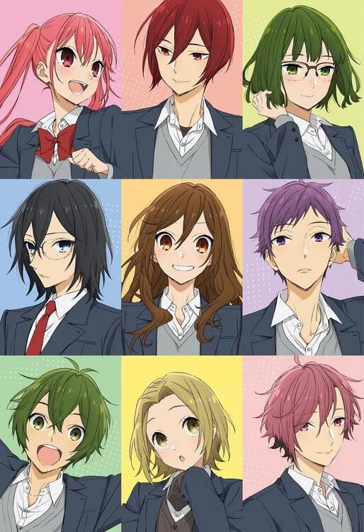 Horimiya – Anime revela Poster Promocional com Personagens