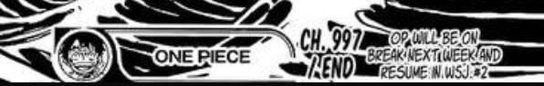 One Piece - Capítulo 998 ADIADO uma semana