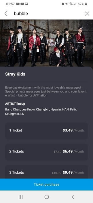 Bubble JYP Stray Kids