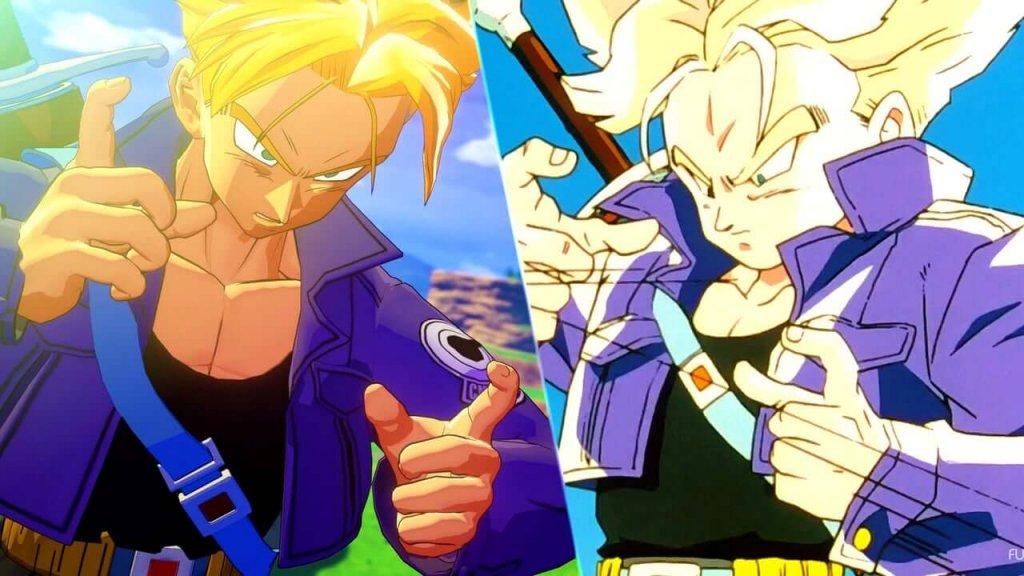 O Mundo Sinergético dos Videojogos e dos Animes - Trunks Jogo vs Trunks Anime