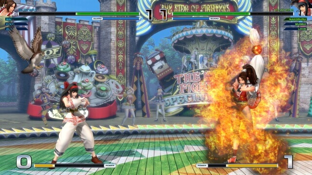 The King of Fighter XIV - Nakoruru e Mai a lutar