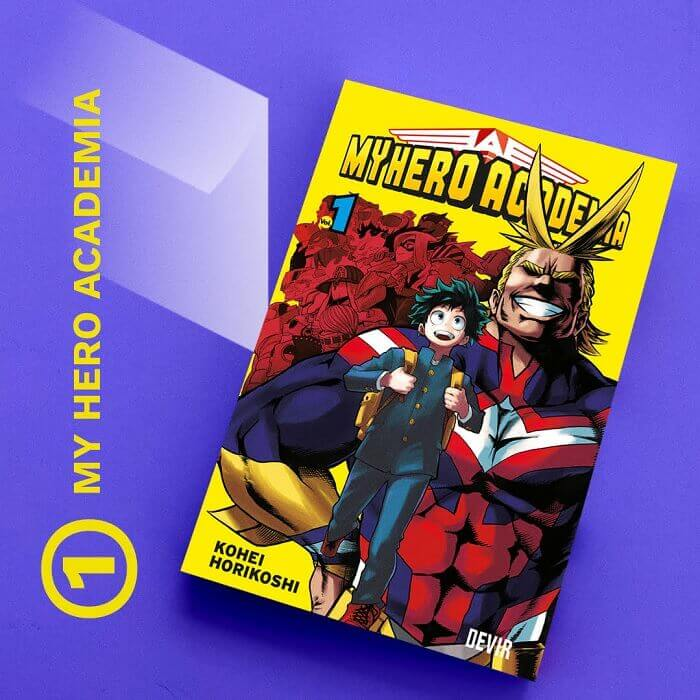 manga mais vendido 2020 devir boku no hero