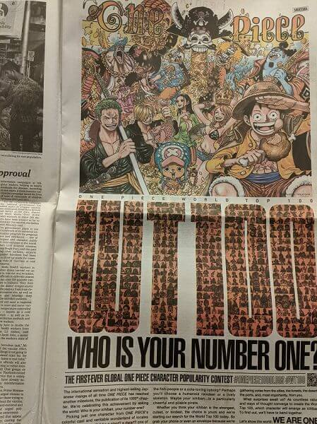 one piece poll ad new york times paper