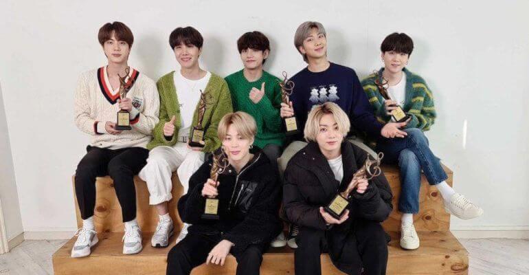BTS vencem Daesang nos Seoul Music Awards pelo 4º Ano Seguido