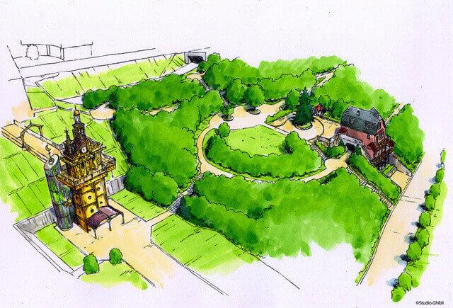 Parque Temático Ghibli Apresenta Áreas