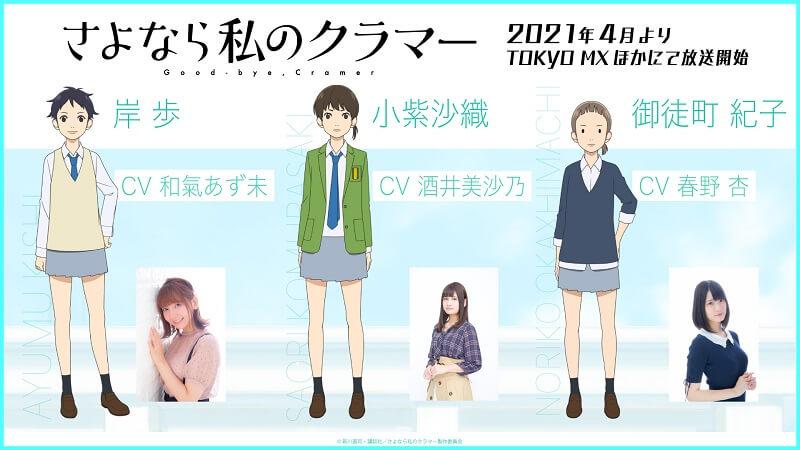 Sayonara Watashi no Cramer (Farewell, My Dear Cramer) personagens visuals screenshot 3