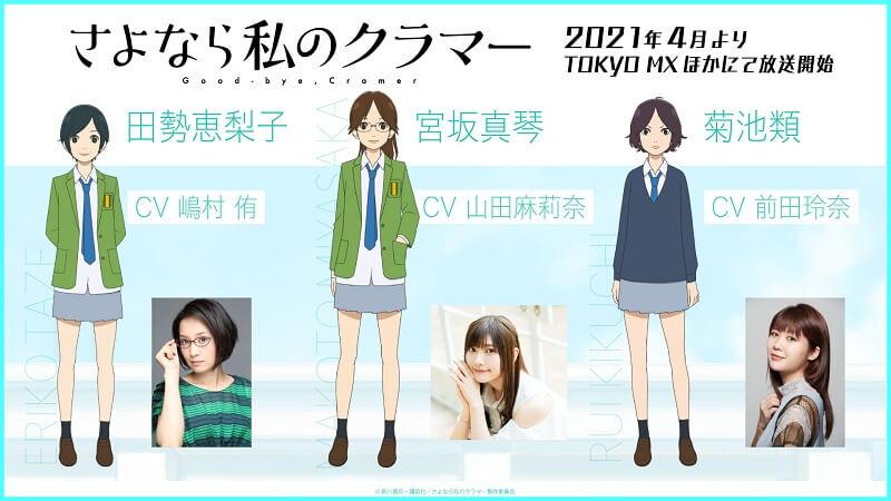 Sayonara Watashi no Cramer (Farewell, My Dear Cramer) personagens visuals screenshot 2