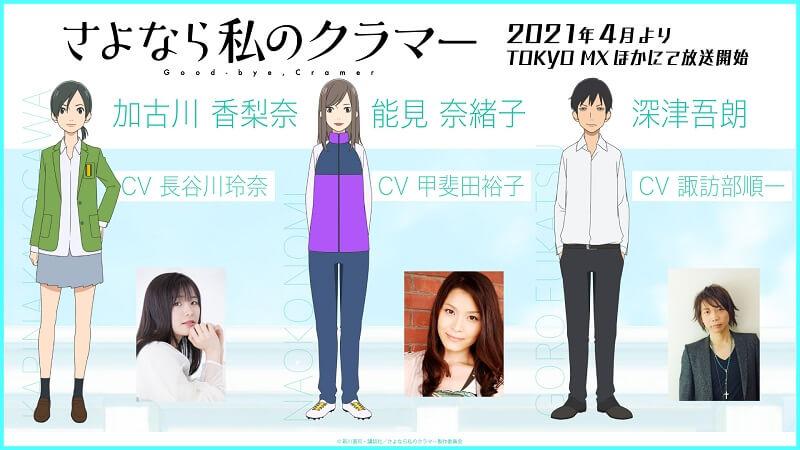 Sayonara Watashi no Cramer - Série Anime revela Data de Estreia