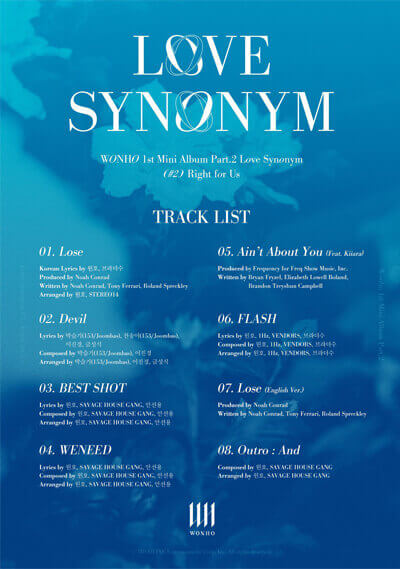 wonho tracklist right for us comeback fevereiro 2021