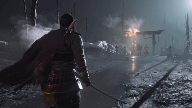 Ghost of Tsushima – Jin preparado para combater
