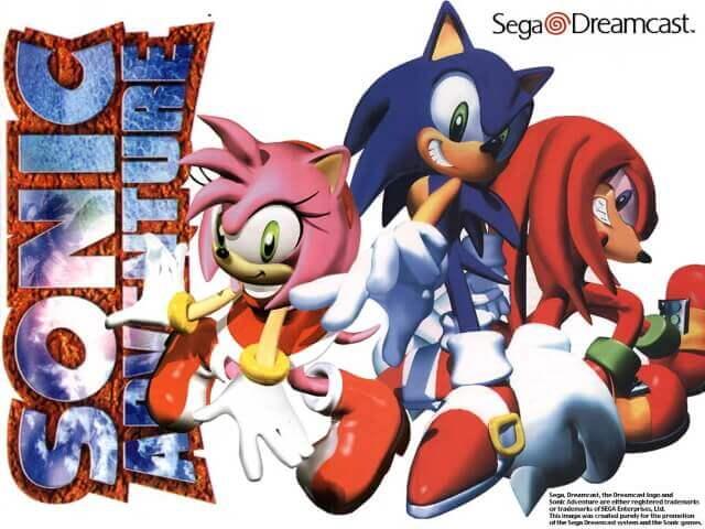 Sonic Adventure - arte promocional