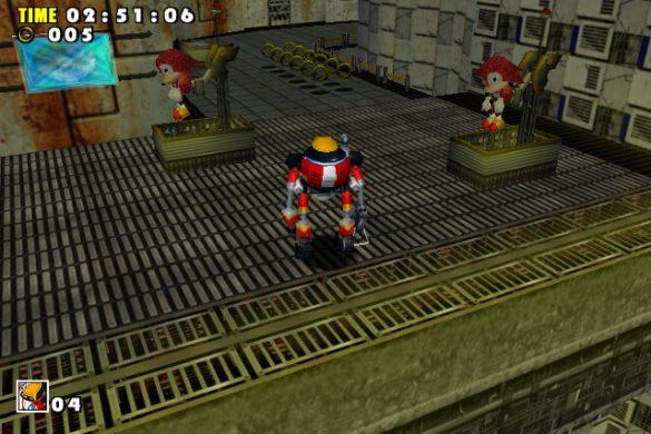 Sonic Adventure - Jogabilidade com gamma