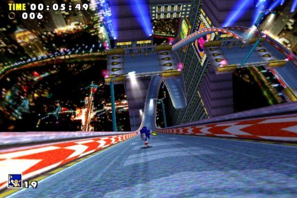 Sonic Adventure - Jogabilidade com Sonic