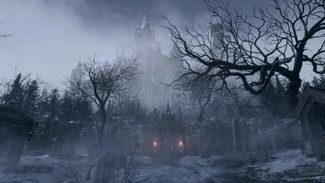 Resident Evil Village - Cenário da Vila