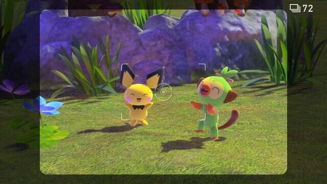 New Pokémon Snap – foto de pichu e grookey