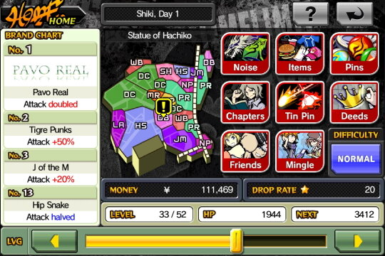 Nivel Exp The World Ends With You