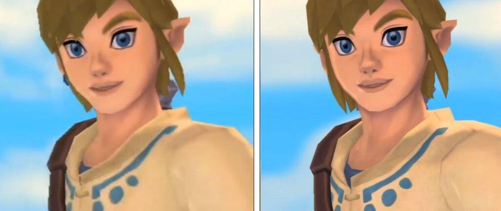 Link Nintendo wii vs HD